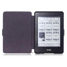 Caso elegante de La Cubierta para Paperwhite Kindle, PU Funda de piel para Amazon Kindle Paperwhite 1 2 3 Cubierta con Auto la función del sueño
