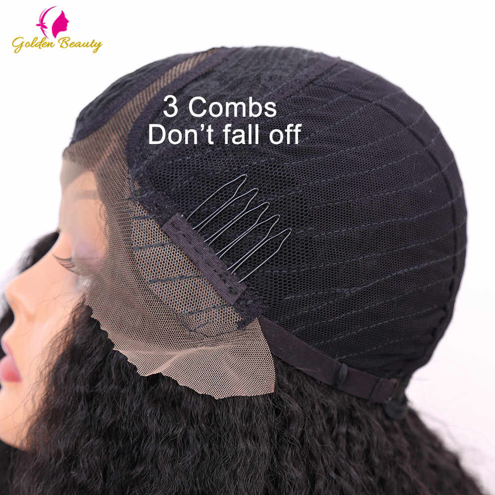 Золотой красоты 24 дюйма длинный кудрявый прямой парик синтетические кружева передние парики афро слоеного Яки прямой парик для женщин