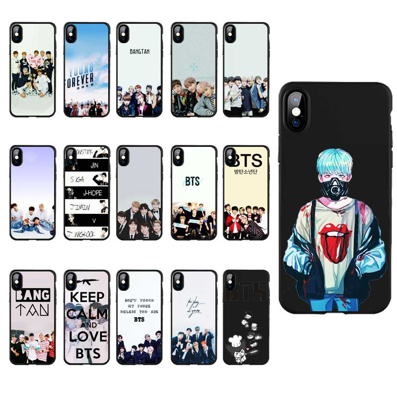 Cellphones & Telecommunications Dreamfox M175 Btstan Bts Young Boy Black Soft Tpu Silicone Case Cover For Apple Iphone Xr Xs Max X 8 7 6 6s Plus 5 5s 5g Se Colours Are Striking Phone Bags & Cases