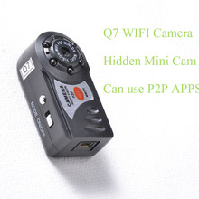 Smallest Wifi Camera Q7 Cam Upgrade 720P HD Mini DV Wireless IP Camera Espia Video With IR LED Pocket-Size Remote by Phone