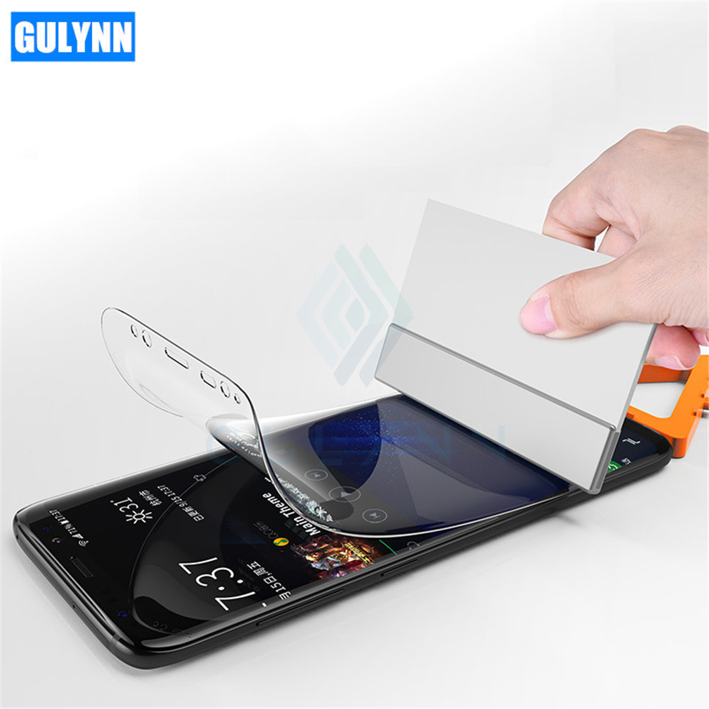 GULYNN 3D Protection Film For Samsung Galaxy S8 S9 Plus S6 S7 Edge Soft Full Curved Screen Protector Note 8