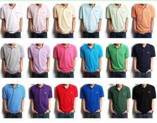 Hot sale slim-fit Men's polo shirt Short Sleeve T-Shirt men working shirt M L XL XXL wholesale 20pcs/lot Free shipping CM016