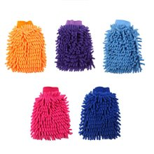 Мини случайный цвет мягкой микрофибры односторонние коралловые бархатные перчатки перчатка для мытья машины s автомобильные принадлежности 22*15 см перчатка для мытья машины
