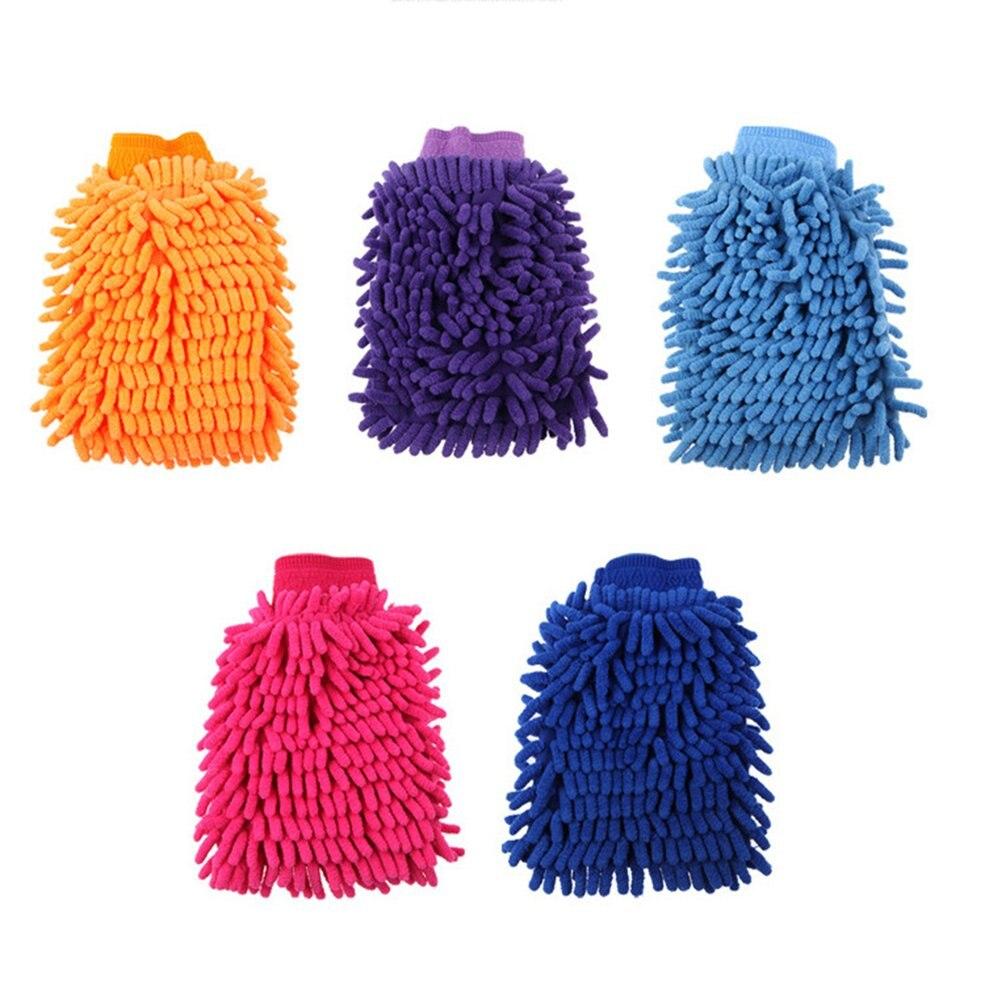 Mini Random Color Soft Microfiber Single Sided Coral Velvet Gloves Car Wash Gloves Automobile Supplies 22*15cm Car Wash Glove