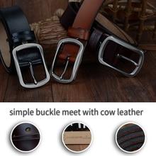 Classic Genuine Split Leather Pin Buckle Belt