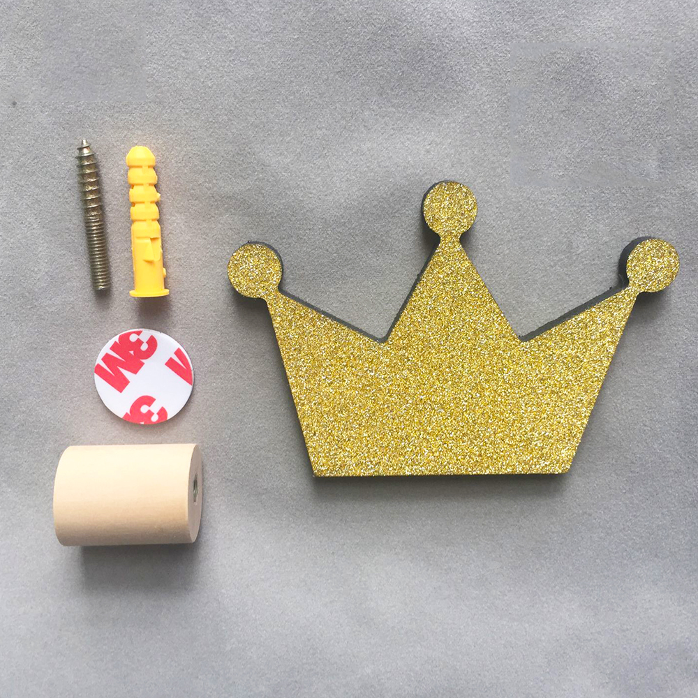 Carveman Ins hot Crown Decoration Cute Kids Room Clothes Hook Room ...