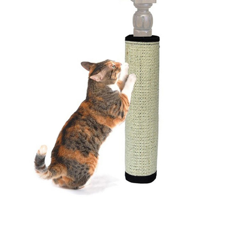 Fast Deliver Safe Cat Scratch Pad Interesting Board Protecting Furniture Foot Natural Sisal Cat Scratching Post Toy For Cats Catnip Tower Cat Supplies Cat Toys