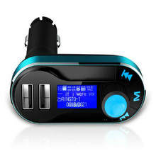 car audio mp3 player usb fm transmitter mp3+8G Memory+Remote control+Card reader +aux line free shipping