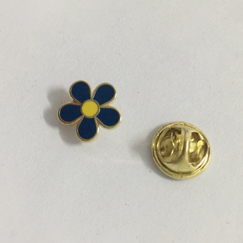 Freimaurerei 10mm blau blume revers pin mason sehr nette brosche pins abzeichen 100 stücke großhandel factory custom-in Broschen aus Schmuck und Accessoires bei  Gruppe 3