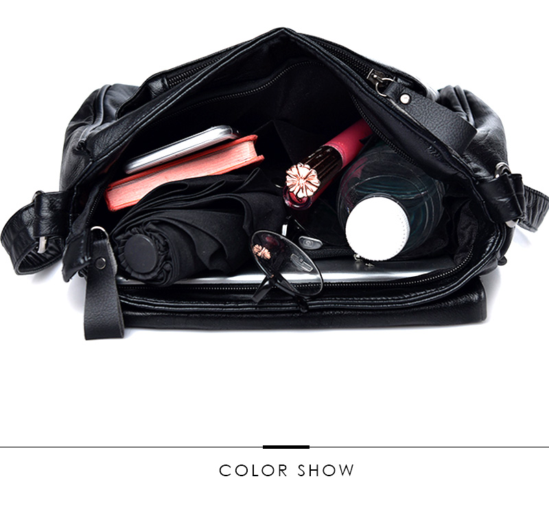 18 Women Messenger Bags Crossbody Soft Leather Shoulder Female Bag Flap Bolsa Feminina Designer Handbags High Quality Brand 3