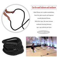 Hot Sale 9 Meters Undulation Physical Fitness Training Battling Rope Body Strength Training Sport Fitness Exercise Workout