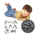 8 Pçs/set Mente Cérebro Teaser IQ Enigma Metal Wire Puzzles Jogo para Adultos Crianças Crianças Materiais Montessori