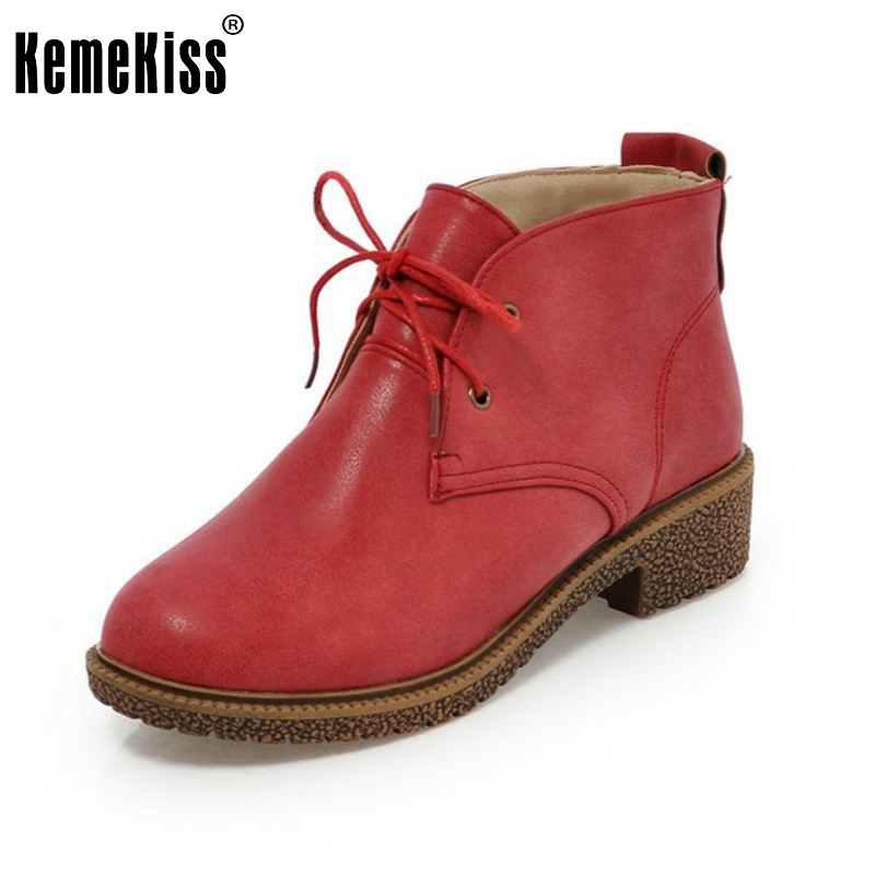 Women Boot Autumn Spring Flat Shoes Woman Lace-up Round Toe Motorcycle Ankle Boots Bota Feminina Bottes Femmes Size 33-43 botines mujer 2016 autumn spring women boots lace up print motorcycle ankle boot ladies flat shoes woman botas mujer xwx3362