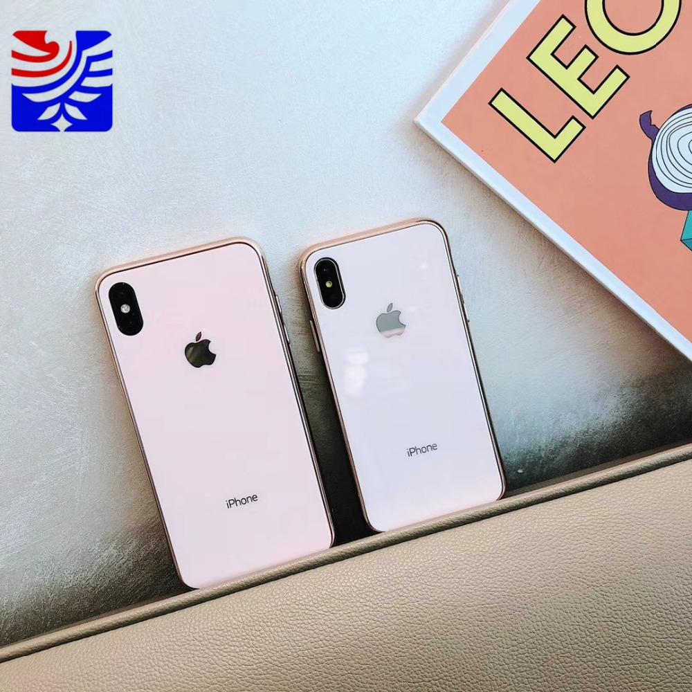 PEIPENG Luxury made of electroplated glass Anti-fall Phone Cases For iphone 6 6S 7 8 Plus X Xs Max Christmas gift Girl Simple and stylish07