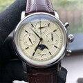 Ретро мужские s 1908 часы пилота хронограф сапфир фаза Луны мужские Авиатор военные механические часы с ручным подзаводом календарь