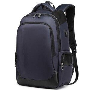 Image 3 - 2019 nouvelle marque supérieure bagage à main 15.6 pouces hommes femmes sac lycée USB chargeur Port affaires voyage sacs à dos dordinateur portable cadeau