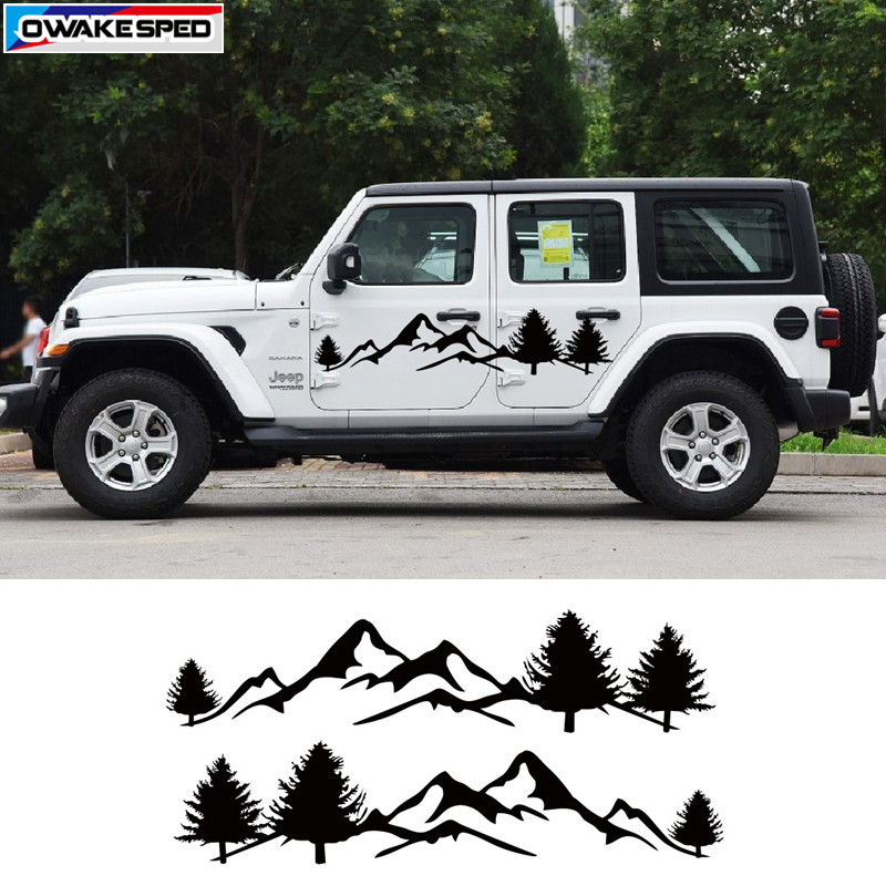 Jungle Mountain Adventure Off Road Graphic Vinyl Decal