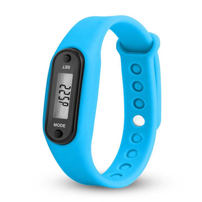 2020 スポーツスマート腕時計ブレスレットディスプレイフィットネスゲージステップデジタル Lcd 歩数計ステップカロリーカウンター