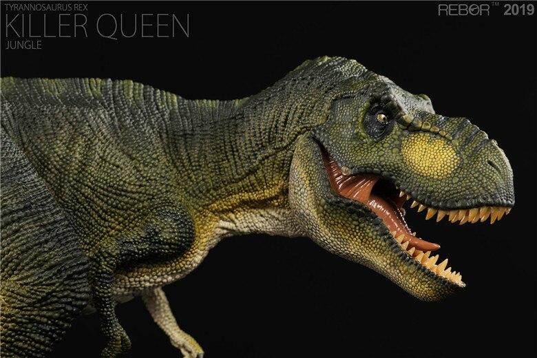 REBOR ティラノサウルスレックス T-Rex キラー女王ジャングル PVC 1/35 恐竜博物館モデル