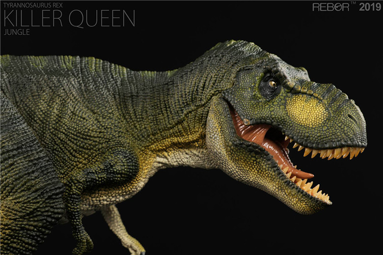 REBOR الديناصور ريكس T ريكس القاتل الملكة الغابة PVC 1/35 ديناصور متحف نموذج-في شخصيات دمى وحركة من الألعاب والهوايات على  مجموعة 1