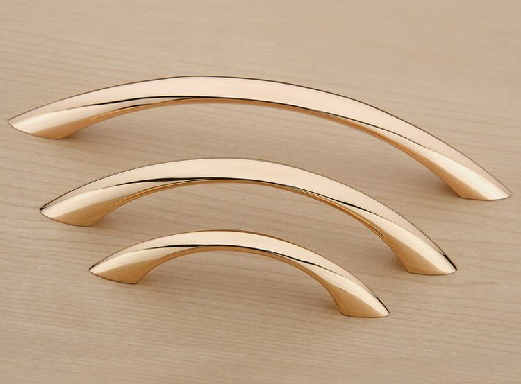 Modern Simple Rose Gold Kitchen Cabinet Drawer Pull Handle Concealed Closet Door Handle And Knob( C:C:96MM L:118MM ) simple modern door handle drawer cabinet pull wardrobe knobs brush finish gold and silver handles single hole 96 128mm