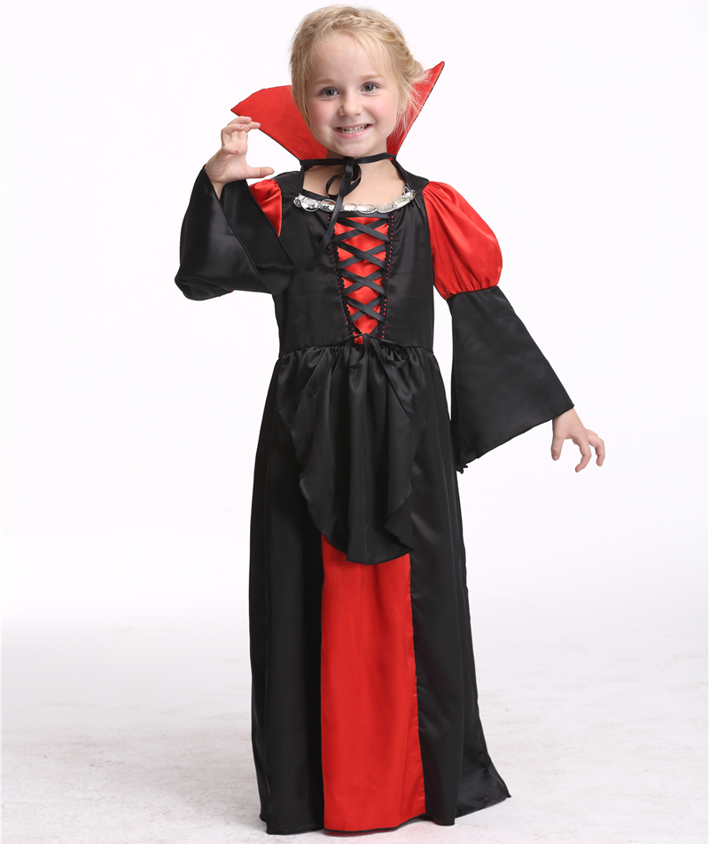Vampire Costume Dress Halloween Cosplay For Children Performance Skirts Party Cosplay Carnival Clothing