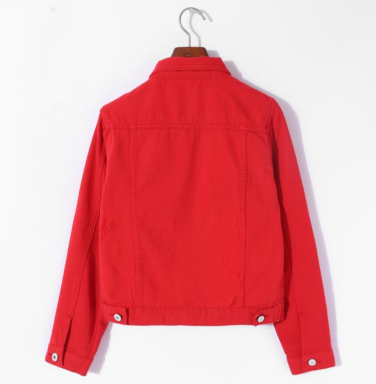 Jeans Jacket and Coats for Women 19 Autumn Candy Color Casual Short Denim Jacket Chaqueta Mujer Casaco Jaqueta Feminina 11