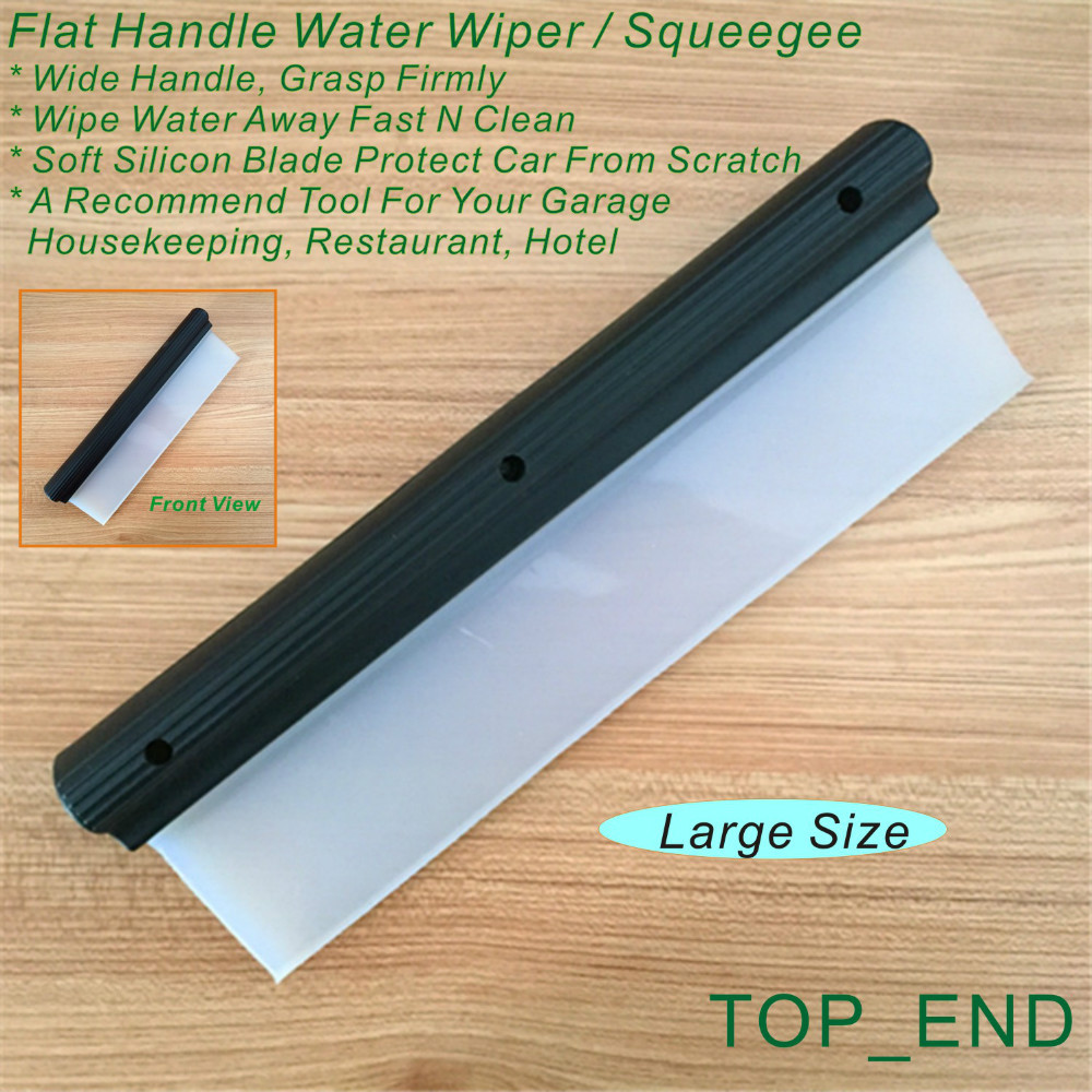 Free Shipping,1pc, 12 Wide Window Washing Squeegee,Designed w/ Felxi Wiper,Black Flat Handle,Ideal For Car Washing,Garage,House