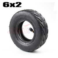 6 inch 6X2 Tireand Inner Tube Set Fit for Electric Scooter Wheel Chair Truck F0 Pneumatic Wheel Trolley Cart Air Wheel Bike