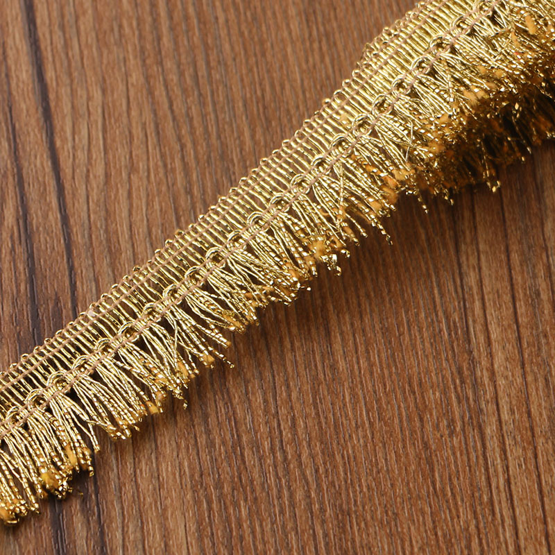 25MM 5 Yards High Qualit Golden Fringes Lace  Sewing Home Furnishing Garment Accessories DIY Material