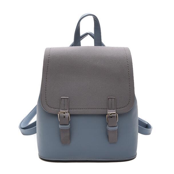 2018 Fashion New Women Backpack School bag High-quality Scrub PU leather  Female bag College c2f9ab0e48a8d