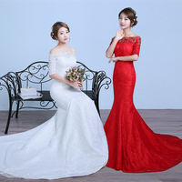 lustrous satin and lace flowers very Sexy Backless mermaid Wedding Dresses vestidos de noiva robe de mariage greek style dresses