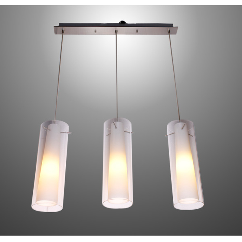 New modern glass kitchen bar pendant lamp 3 lights e27 fitting rectangle canopy suspension hanging pendant lighting pl39 3 in pendant lights from lights
