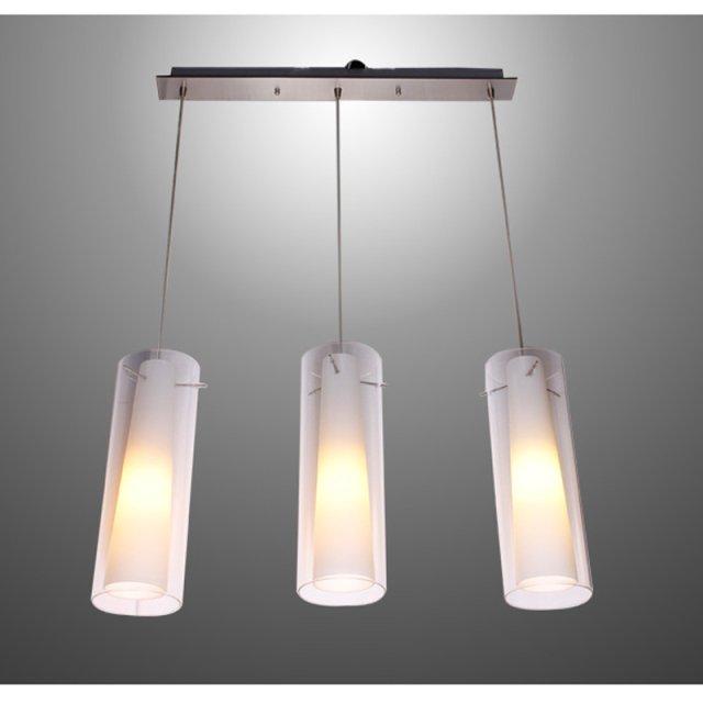 New Modern Glass Kitchen Bar Pendant L& 3 Lights E27 Fitting Rectangle Canopy Suspension Hanging Pendant & New Modern Glass Kitchen Bar Pendant Lamp 3 Lights E27 Fitting ...
