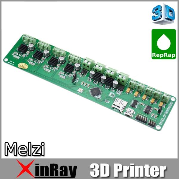 ФОТО Free shipping Melzi 2.0 1284P Reprap Control Mainboard 3D printer Prusa I3 MK1 2 3,3 D Printer Controller Main Board PCB