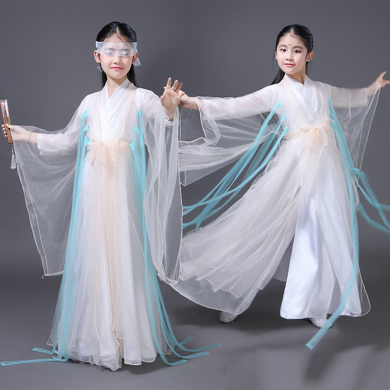 China Hanfu Dress Kids Traditional Chinese Tang Ancient Costume Classical Girls Fairy Costumes Chiffon Clothing Cosplsy DN2116