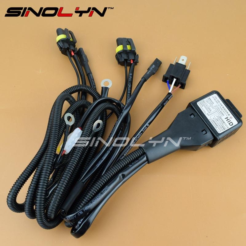 Car Styling 12V 35W 55W H4 H4 3 9003 HB2 Bixenon Bulbs Relay Harness High Low h4 led picture more detailed picture about car styling 12v 35w 12v/55w wiring harness controller at eliteediting.co