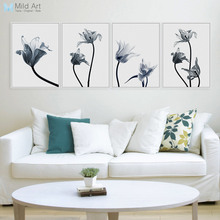 Modern Tulips Flower Photo A4 Poster Color Plant Floral Wall Art Pictures Nordic Living Room Home Decor Canvas Painting No Frame