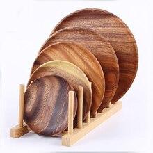 Плотник, поднос из цельного дерева, акации деревянные круглые фрукты кастрюля, бревенчатая тарелка, сухие фрукты закуски блюдо
