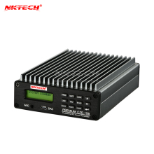NKTECH, стерео, PLL, fm-передатчик, CZE-15B, 0,3-15 Вт, беспроводная вещательная радиостанция, регулируемая, 87-108 МГц, управление ПК, подсветка усилителя