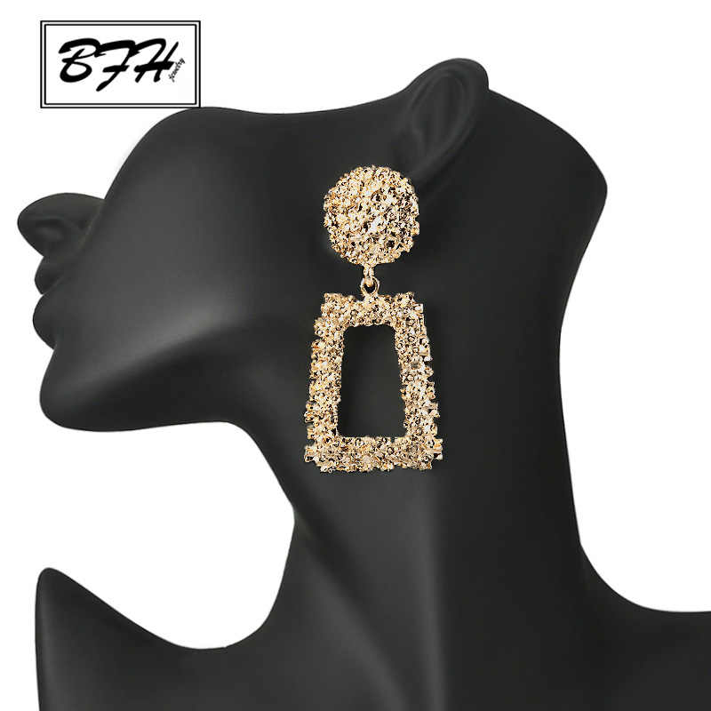 BFH Big Vintage Earrings for women gold color Geometric statement earring metal Silver earing Hanging fashion jewelry trend