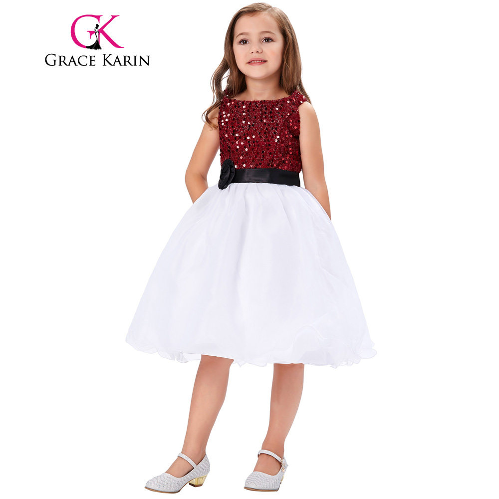 2017 Spaghetti Straps Sequined Pageant Dresses For Little Girls