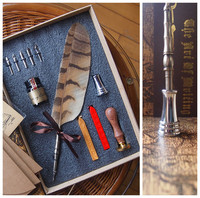 Harry Potter Nature Owl Feather Fountain Vintage Dip Pen With Seal Antique Stationery Envelope1 Ink 5
