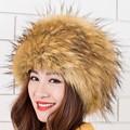 Girls Hats Beanies Fox Fur Cap Princess Style Women New Fashion Winter Warm Fur Headgear
