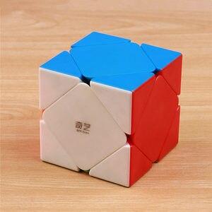 Qiyi megaminxeds головоломка магический скоростной куб пирамиды кубики без наклеек профессиональные зеркальные кубики специальной формы пирамиды оптом