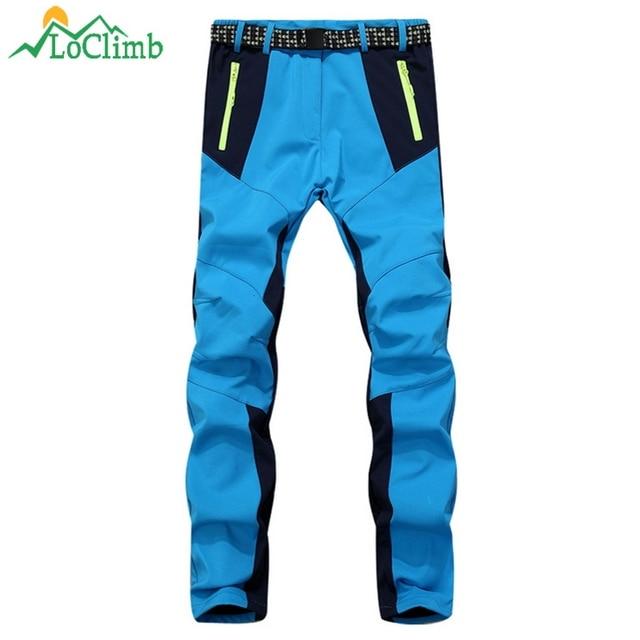 LoClimb Winter Fleece Ski Pants Women Trekking Climbing Softshell  Waterproof Trousers Outdoor Sport Camping Hiking Pants 02b3c4202