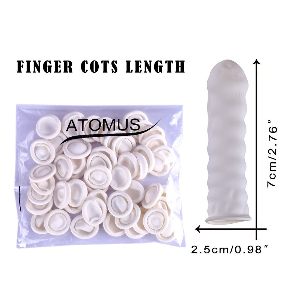 100PCS/Pack Eyebrow Beauty Gloves Disposable Rubber Latex Finger Cots Tattoo Tool Practical Off Eyelash Extension