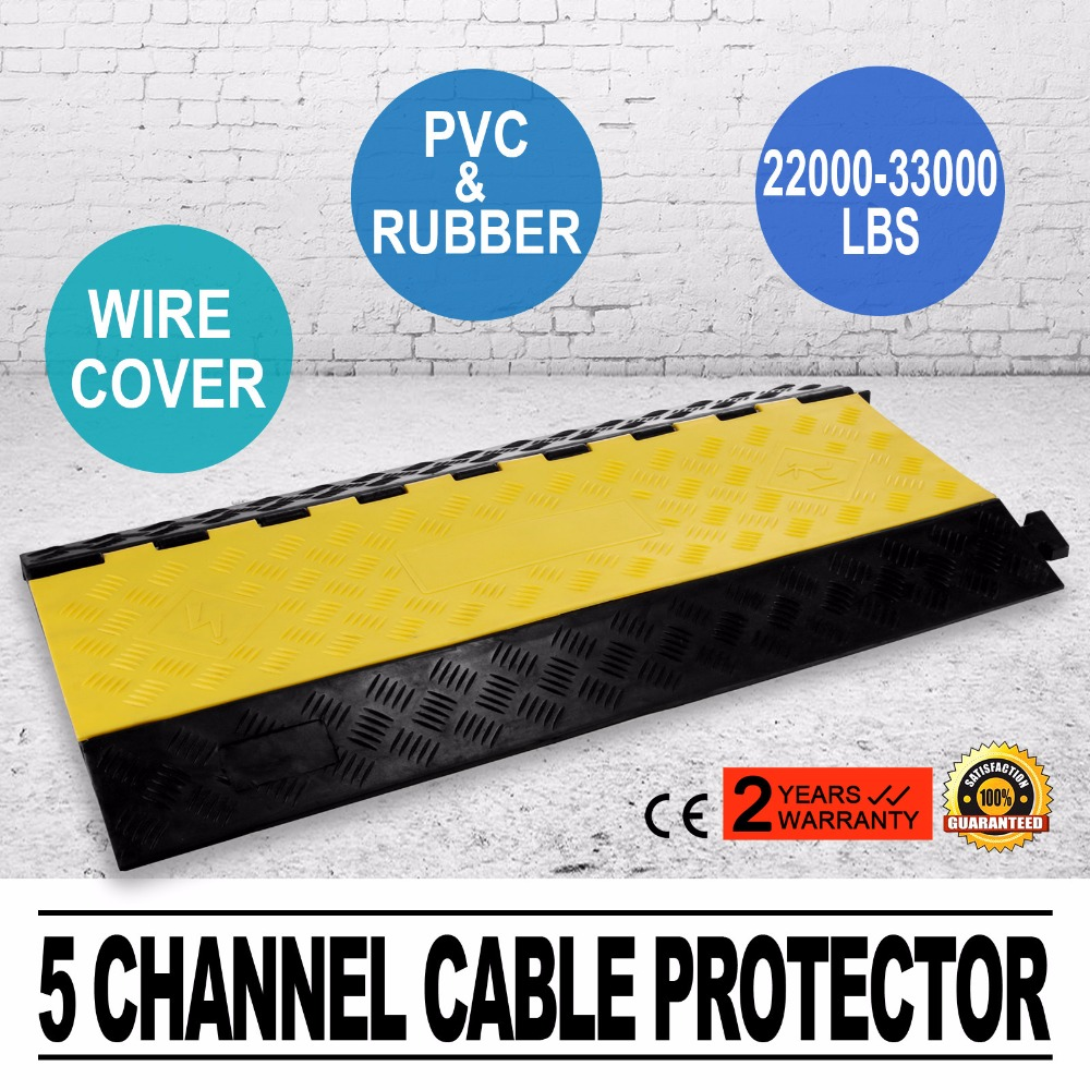 Modular Rubber 5-cable Warehouse Electrical Snake Cover Protector Ramp Track Tools