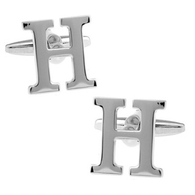 все цены на HYX Luxury shirt Silver Letter H cufflink for mens Brand cuff buttons cuff links High Quality abotoaduras Jewelry онлайн