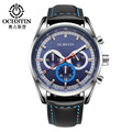 Fashion Luxury Brand OCHSTIN Men's Leather Watch Business Quartz Watch Sapphire Mirror Waterproof Mens Watches with Original Box